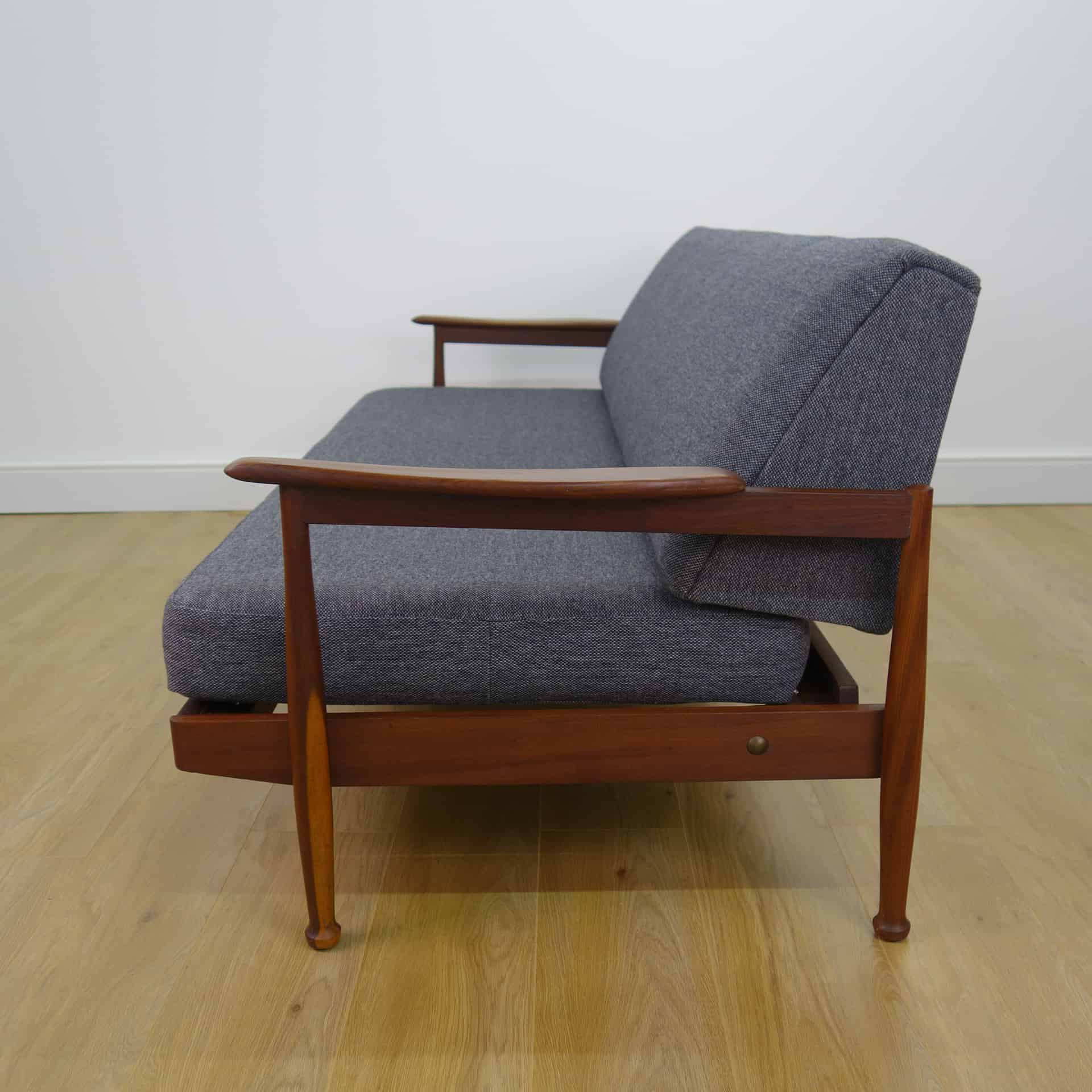 wooden frame sofa uk chair and throws 1960s teak bed by guy rogers mark parrish mid
