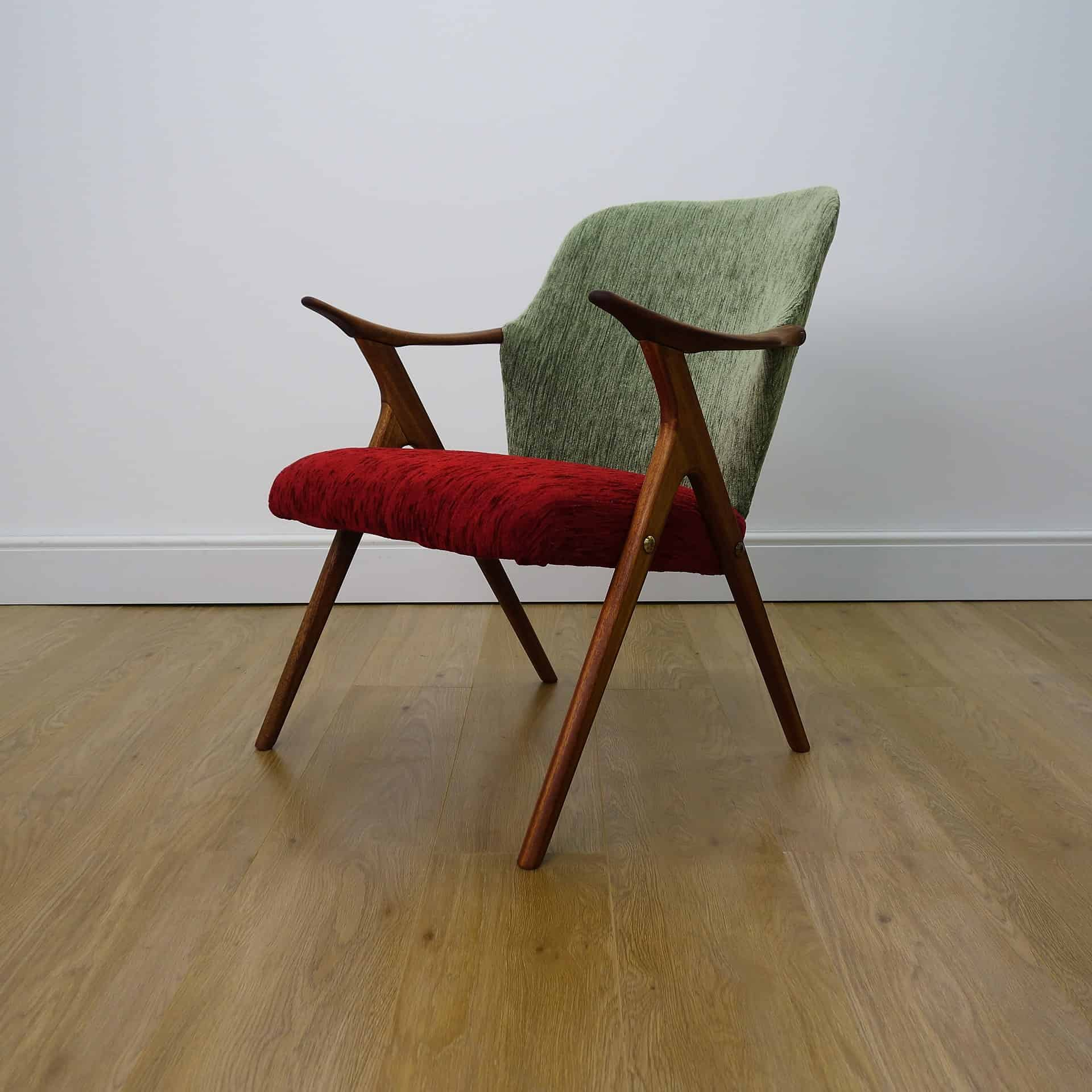 small arm chair wood office chairs 1950s danish teak mark parrish mid