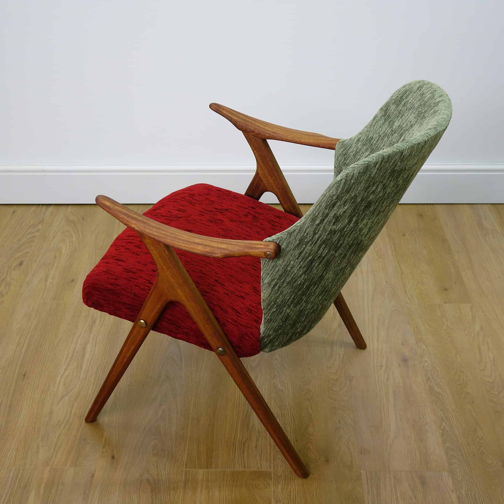 small arm chair exercise ball office size 1950s danish teak mark parrish mid