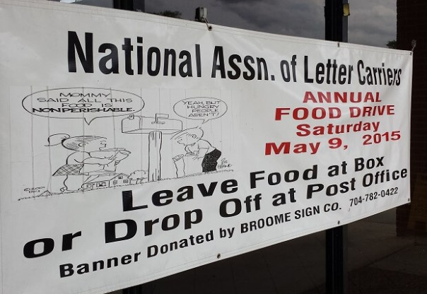 Leave non-perishable food items at your mailbox to help feed the hungry.