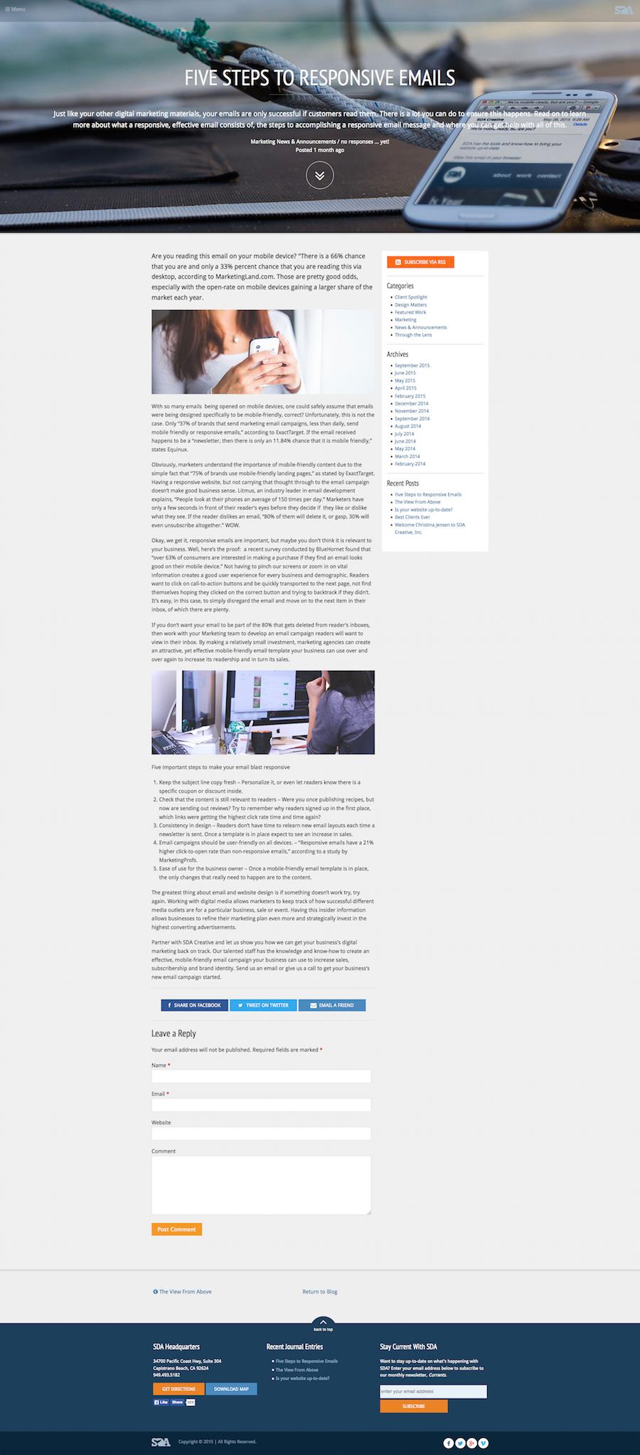 SDA Creative - Blog post