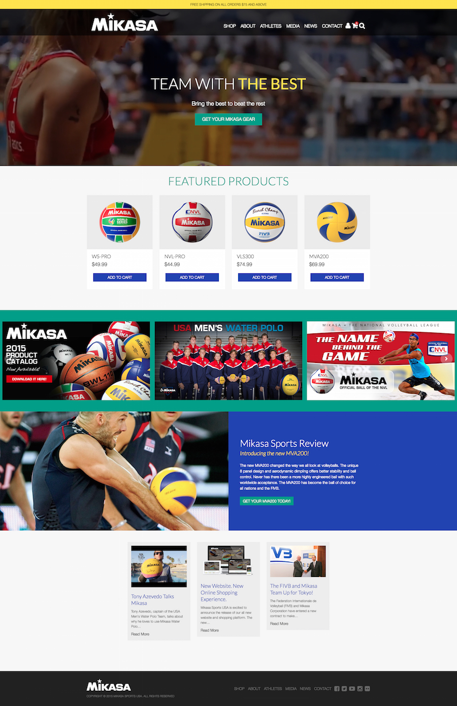 Mikasa Sports home page