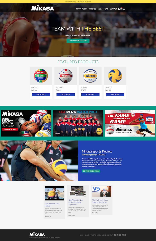 Mikasa Sports home page
