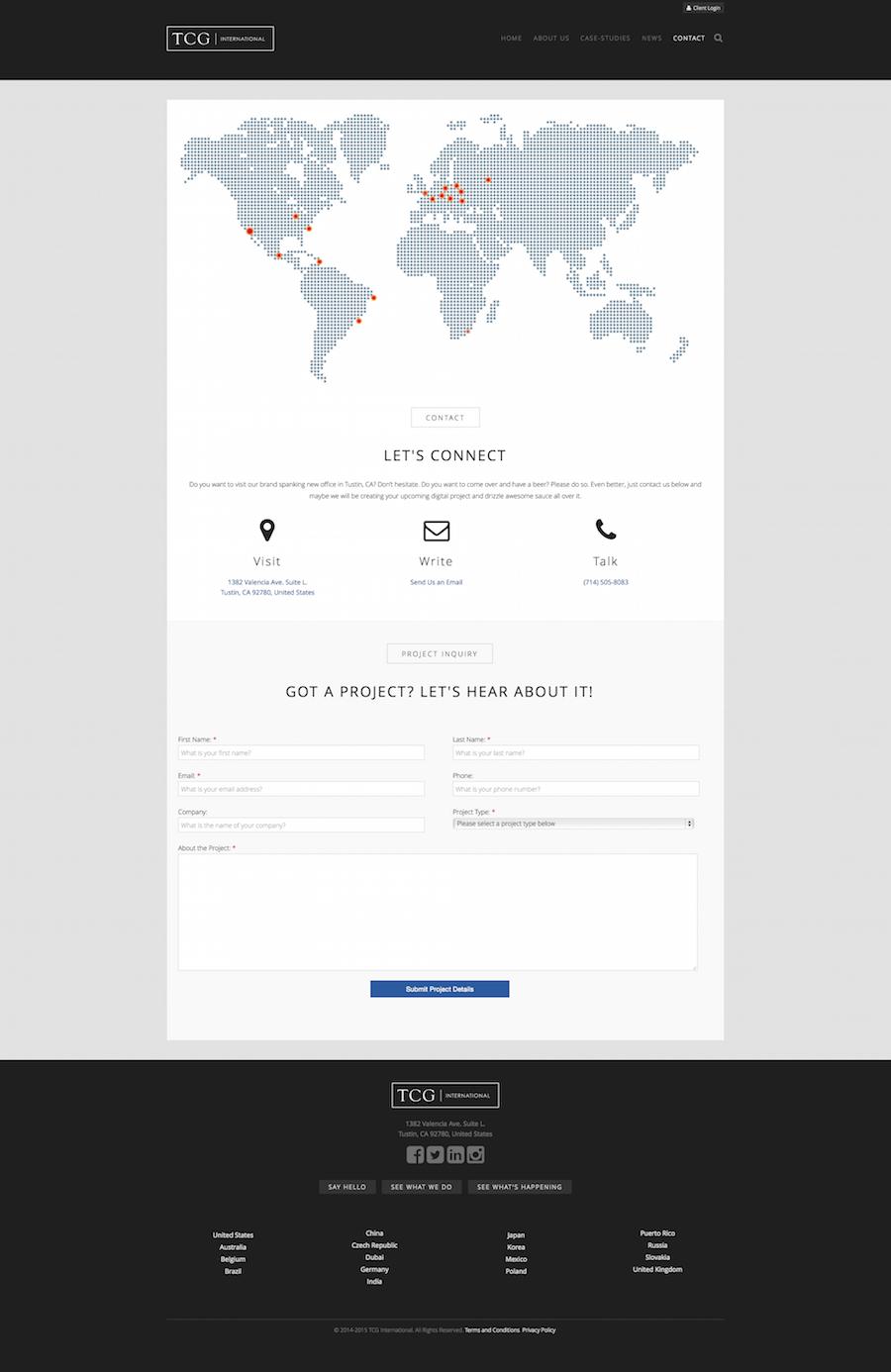 TCG International Contact