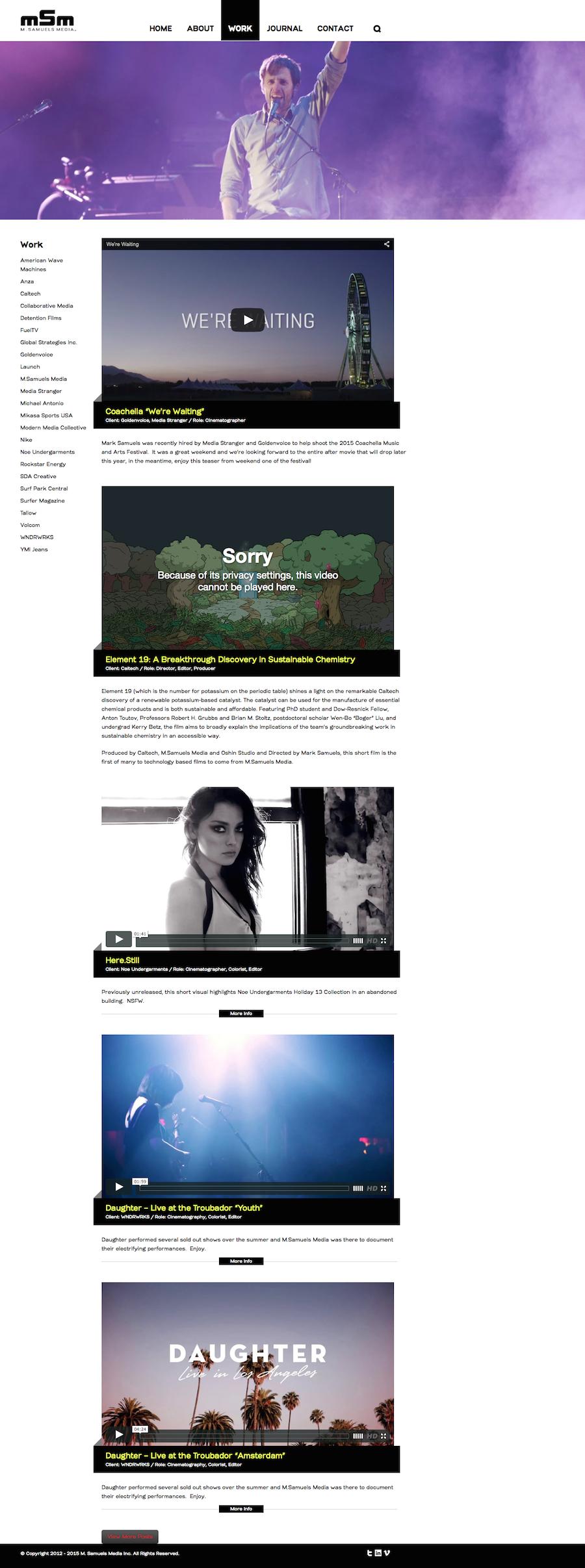 M. Samuels Media Inc. - Portfolio