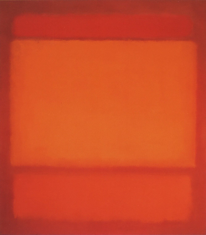 Red Orange Orange on Red 1962 by Mark Rothko