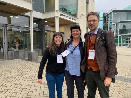 Co-organisers of the Symposium on Microhylidae: right to left, Marta Vidal-Garcia, Angelica Crottini, and yours truly