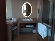 Vanities. View from next to the tub.