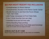 Details for the Palms resort fee