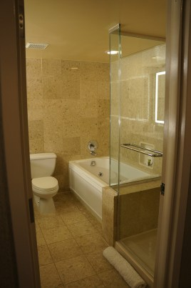 Resort Tower King Bathroom with separate tub and shower