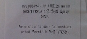 Shell Fuel Rewards Network Promo