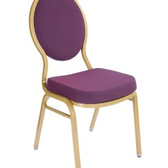 Upholstered Stacking Chairs Parisian Cafe Fabric Tear Drop Back Padded Stack Chair