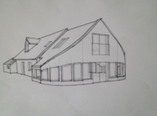 House refurbishment & extensions to dormer bungalow - County Mayo - 3D Sketch