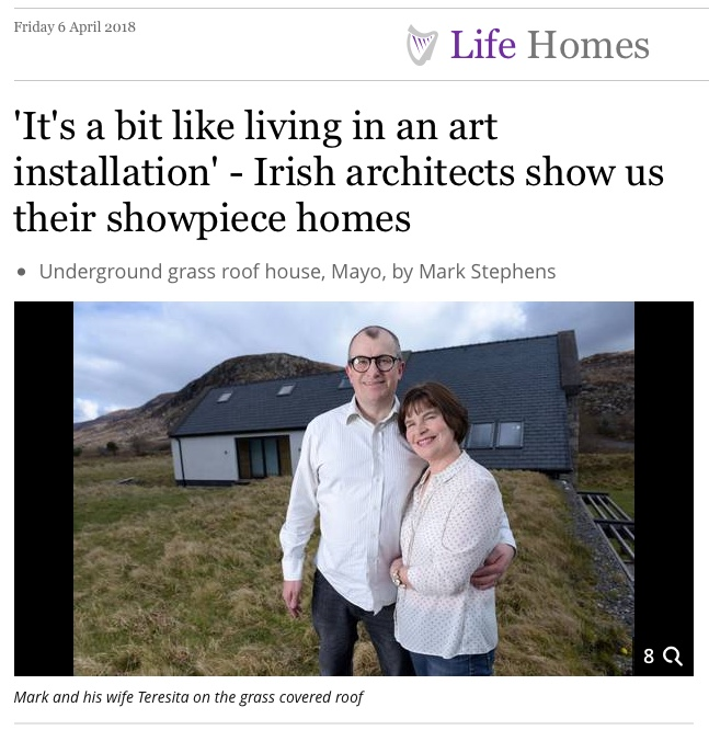 Article in Irish Independent (Friday 6th April 2018) on Architects who designed their own homes