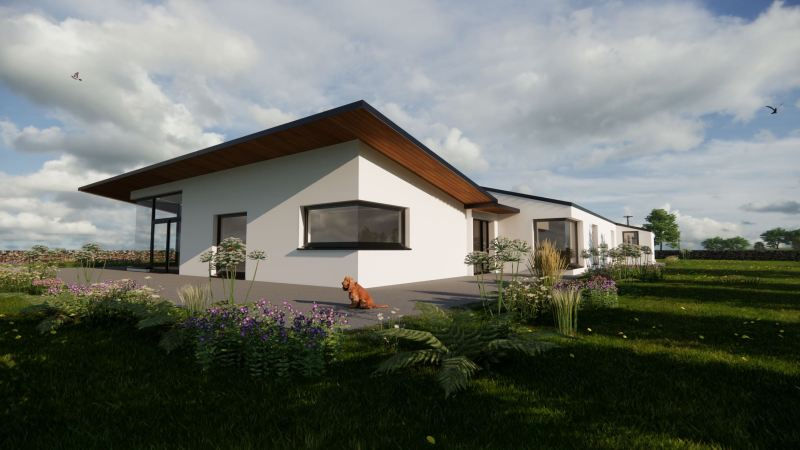 Notification on Grant of Planning Permission on this contemporary yet vernacular design in Co. Mayo