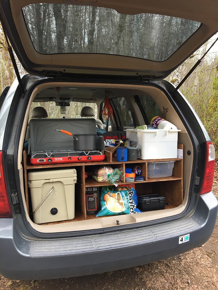minivan with kitchen, everything you need in a vanlife vehicle