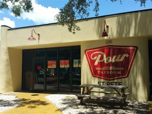 Pour Taproom is a craft beer bar in downtown St. Pete, Fl that sells beer by the ounce