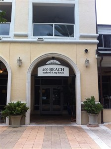400 Beach restaurant entrance on Beach Drive in downtown, St. Pete, FL