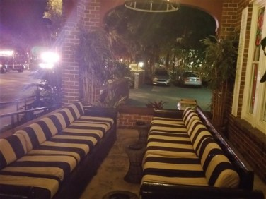 The Tap Room Bar and Grill in St. Petersburg, FL has a nice lounge area on their front patio