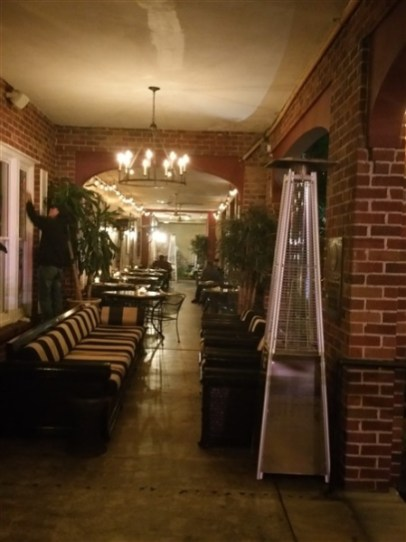 The front patio at the Tap Room Bar and Grill at the Hollander Hotel in St. Petersburg, FL