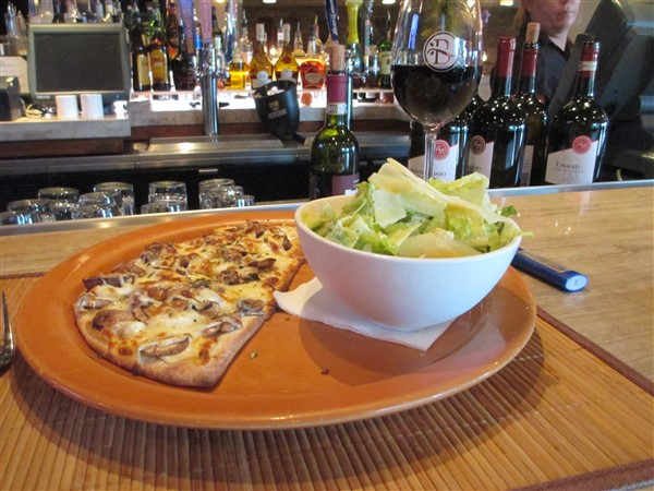 The Tap Room Bar & Grill has a pick two lunch for $8.50 with a 1/2 sandwich and salad