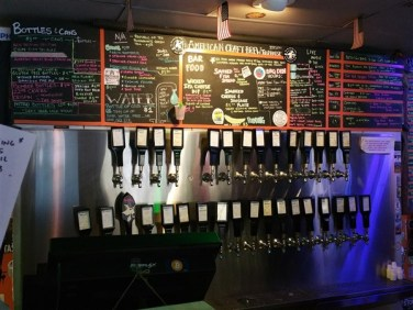 The Ale and the Witch in downtown St. Pete has 32 craft beers on tap which is constantly changing