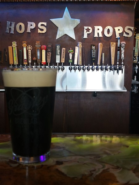 Hops and Props in downtown St. Pete, FL has 26 craft beers on tap