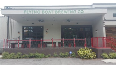 The front entrance at Flying Boat Brewing in St. Pete
