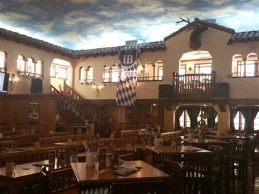 Inside the Hofbrauhaus in St. Pete. Florida