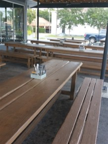 The patio at Urban Comfort Brewery in St. Petersburg, Florida