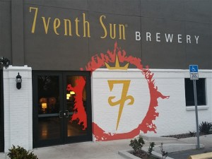 Front entrance at 7venth Sun Brewery in Tampa, Florida