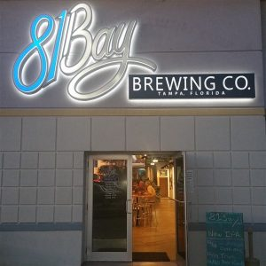 Front entrance at 81Bay Brewing Company in Tampa, FL