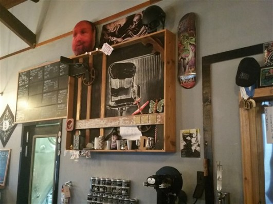 Bar back at Angry Chair Brewing Company in Tampa.