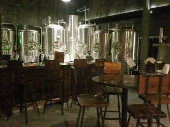The brewing equipment at Avid Brew Company in St. Pete, FL