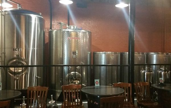 Brewing equipment at Cigar City Cider and Mead in Centro Ybor in Tampa, Florida