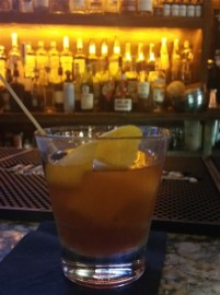 Old Fashioned at Copper Shaker cocktail bar in downtown St. Pete, FL