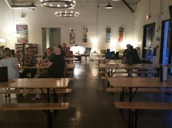 Tasting room at 7venth Sun Brewery in Tampa, Florida