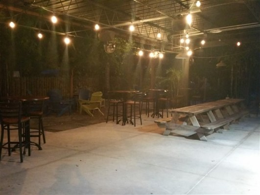 The patio at Southern Brewing and Winemaking in Tampa, Florida