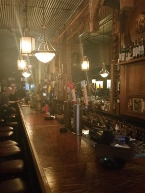 The bar at The Dirty Shame in Centro Ybor in Tampa, Florida