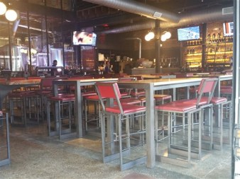 Dining area at Zydeco Brew Werks in Centro Ybor in Tampa