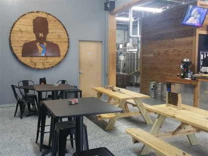 Taproom at Dissent Craft Brewing Company in St. Pete, FL