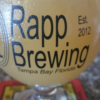 Memon Cream Donut sour beer at Rapp Brewing Company in Tampa Bay