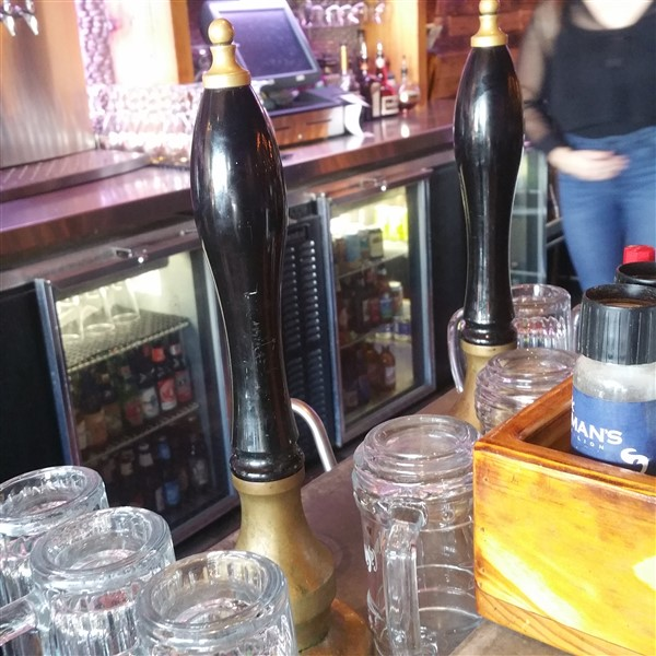 The beer engines for real ale at Yeoman's Cask and Lion near Amalie Arena in Downtown Tampa