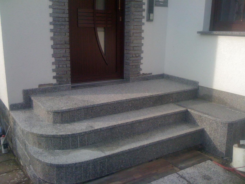 Treppe Mit Granit Naturstein