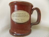 Hand Thrown Mug-Red