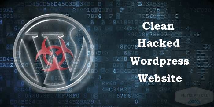 clean hacked wordpress website