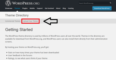 wordpress.org upload