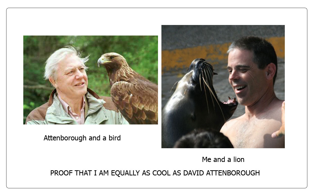 Attenborough Is Not Cooler Than Me