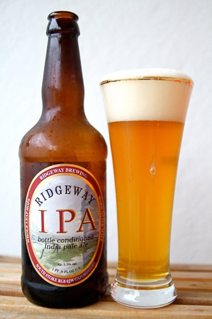 Ridgeway IPA with glass