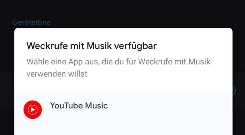 Google Uhr YouTube Music